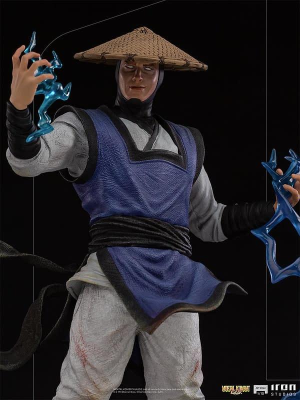 Mortal Kombat Raiden Brings the Thunder To Iron Studios