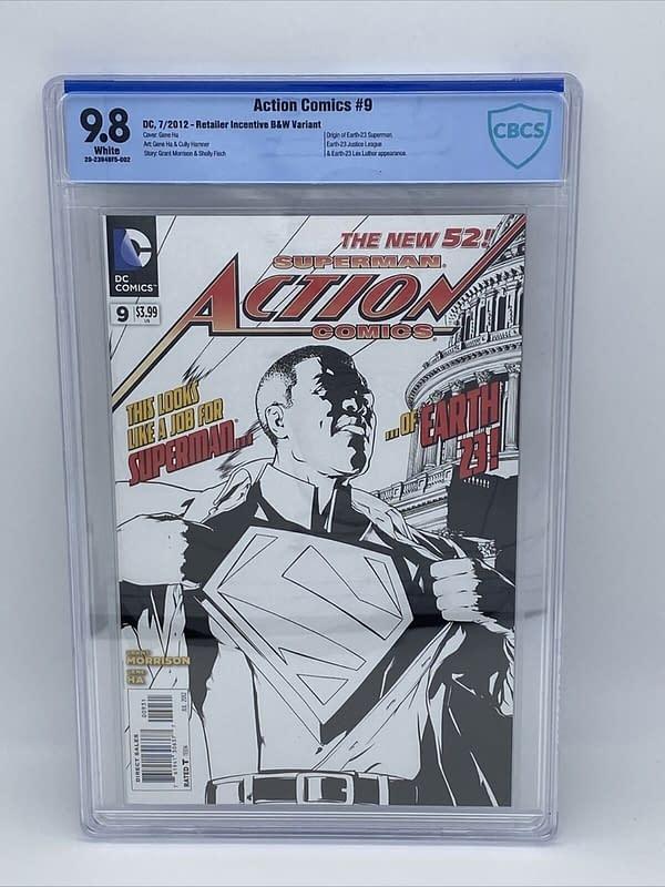 Black Superman Movie Pushes Action Comics #9 (2012) To $2000 On eBay