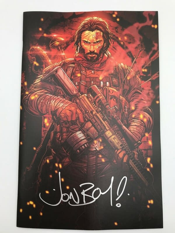 BRZRKR 1:1000 Signed By Jonboy Meyers Rarer Than Those By Keanu Reeves