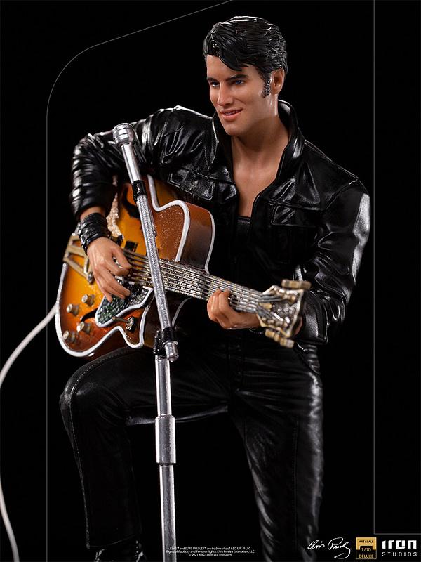 Elvis Presley Receives 68' Comeback Special Statue From Iron Studios