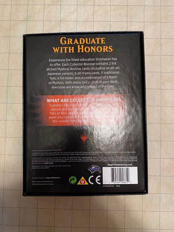 """This box isn't """"graduating with honors"""". There is nothing honorable about this level of waste."""