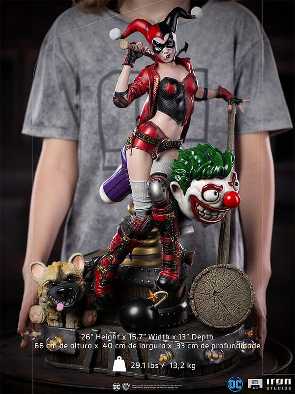 Harley Quinn Receives A New Expensive $1,200 Statue From Iron Studios
