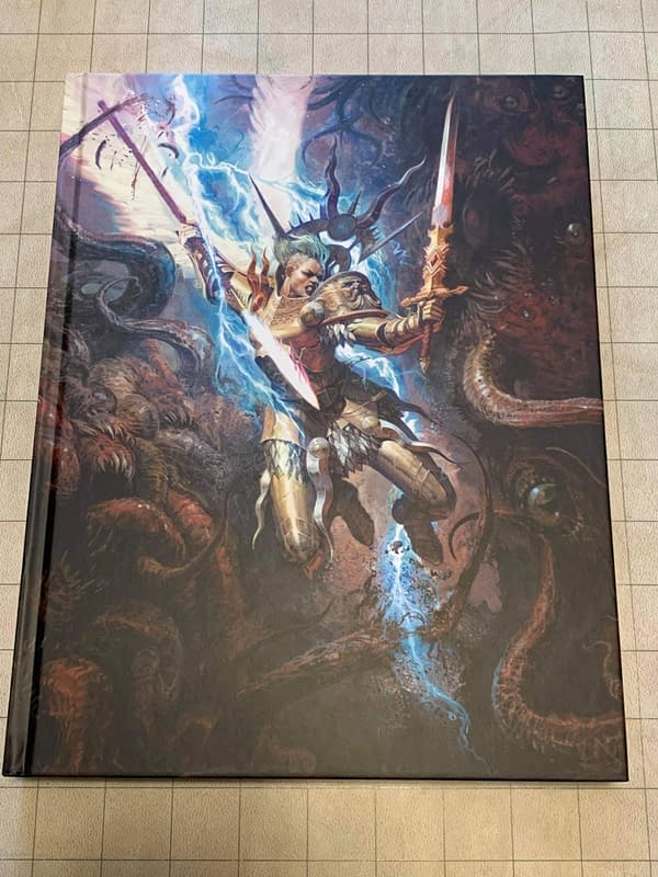 The cover of the Core Rulebook for Age of Sigmar's new third edition, also by Games Workshop.