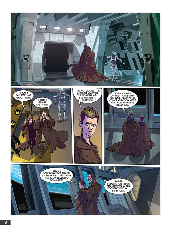 Interior preview page from STAR WARS PHANTOM MENACE GN ADAPTATION TP (RES)
