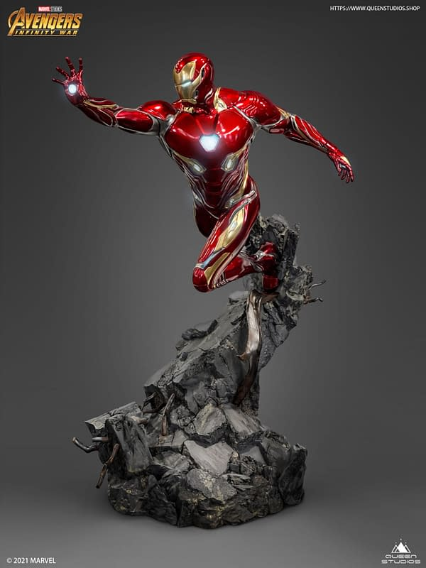 Iron Man Mark 50 Infinity War Armor Comes to Life With Queen Studios