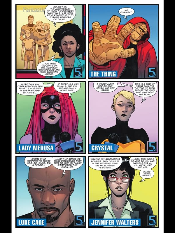 Lettered Preview: 4 Pages from Fantastic Four #1