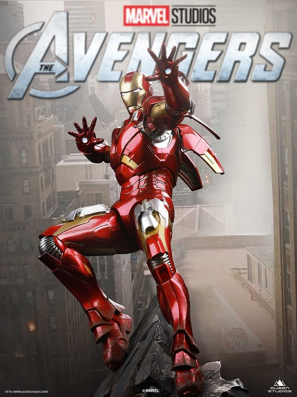 Iron Man The Avengers Mark 7 Suit Comes To Queen Studios
