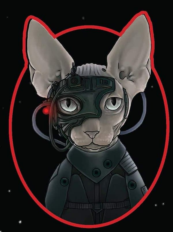 Chronicle Books Star Trek SDCC Exclusive Patch Borg Cat