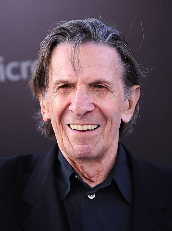 """LOS ANGELES - MAY 14: Leonard Nimoy arrives to the """"Star Trek Into Darkness"""" Los Angeles Premiere on May 14, 2013 in Hollywood, CA (DFree/Shutterstock.com)"""