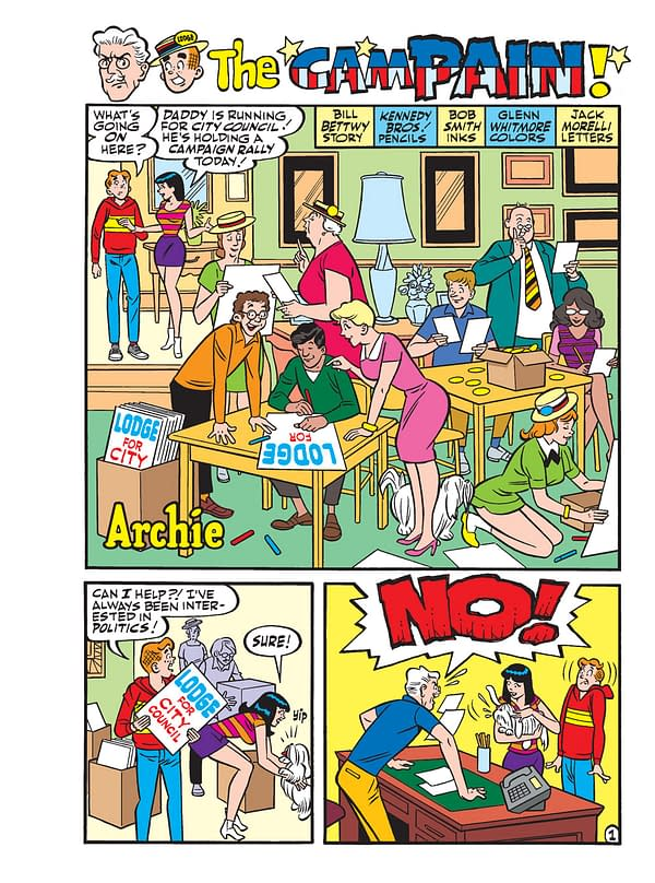 Archie Gets Political in World of Archie Jumbo Comics Digest Preview