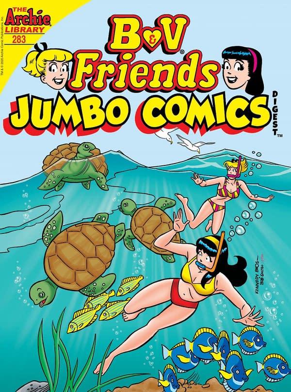 The cover of B&V Friends Jumbo Comics Digest #283.