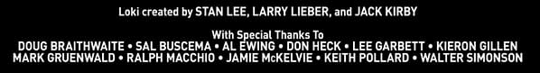 """The Comic Book """"Special Thanks"""" Credits For Loki S01E01"""