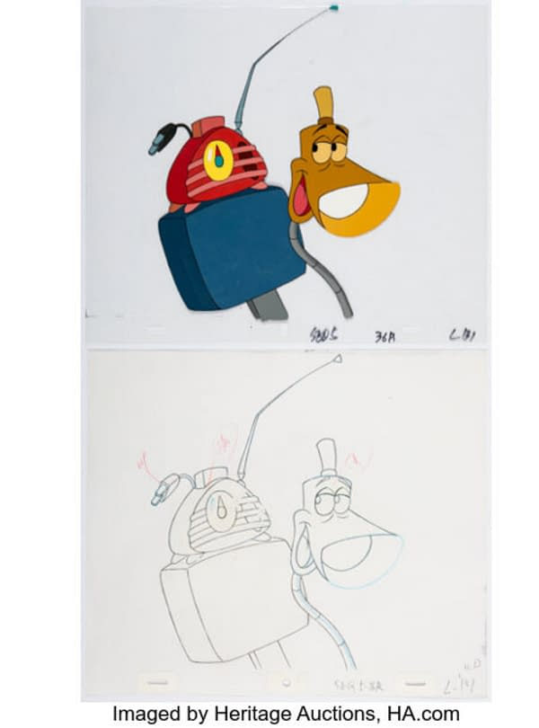 The Brave Little Toaster Production Cel and Animation Drawing Group of 2. Credit: Heritage Auctions