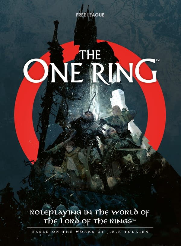 A look at the cover of The One Ring RPG, courtesy of Free League Publishing.