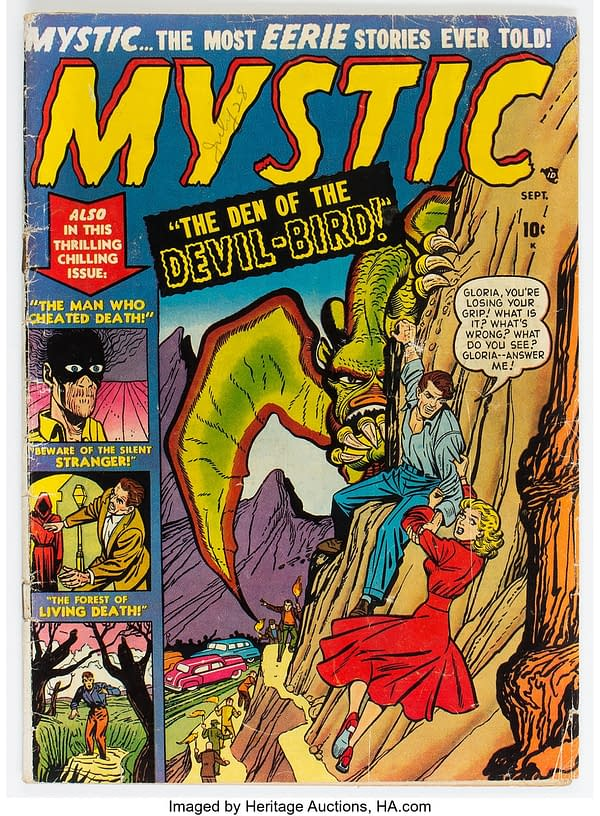 Mystic Comics #4, Den of the Devil Bird, story by Basil Wolverton.