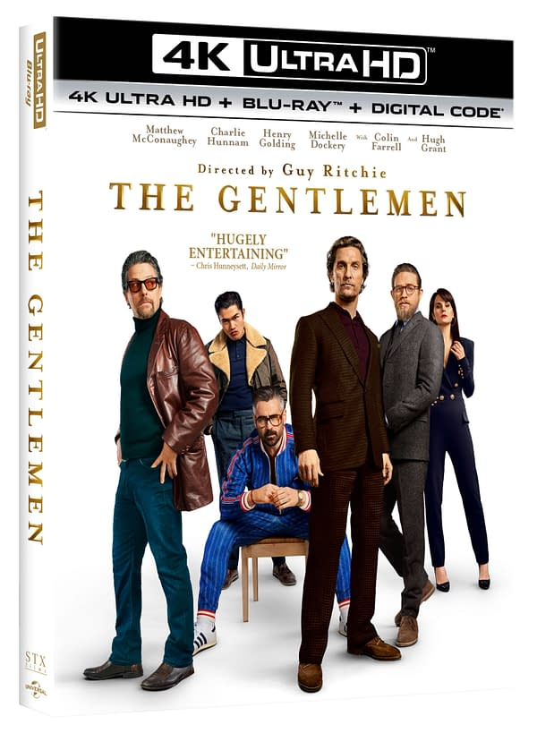 The 4k cover for Guy Ritchie's The Gentlemen