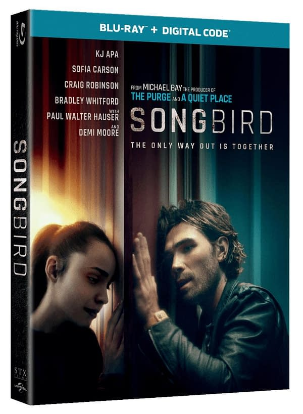 Songbird Hits Blu-ray On March 16th, Pandemic Thriller Reveals Cover