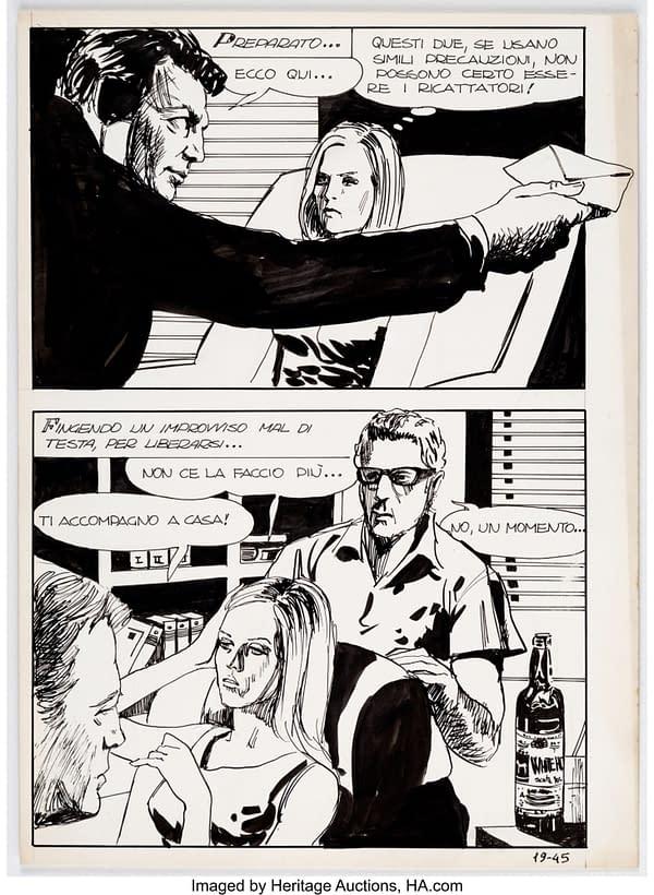 Milo Manara Genius Sex Ricatto/Sex Blackmail) #19 Story Page 45. Credit: Heritage Auctions