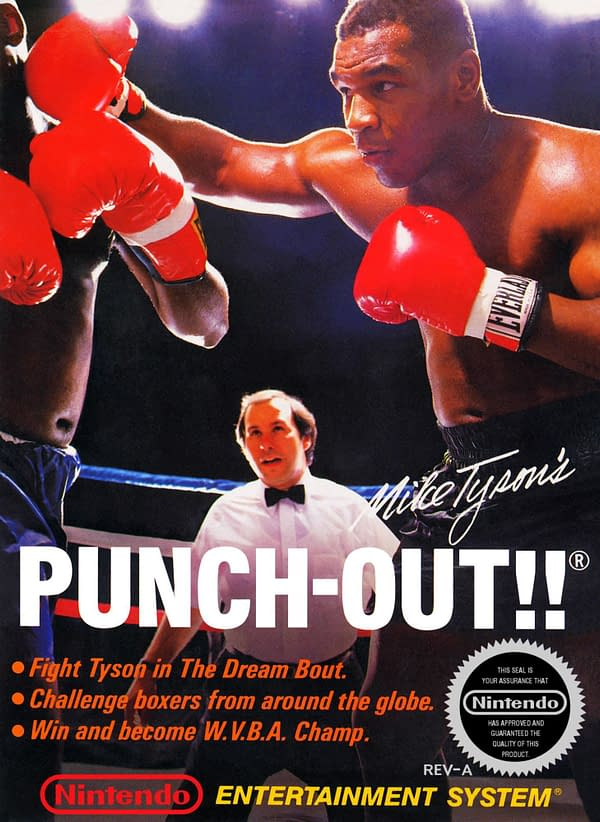 Poster art for the NES version of Mike Tyson's Punch-Out.