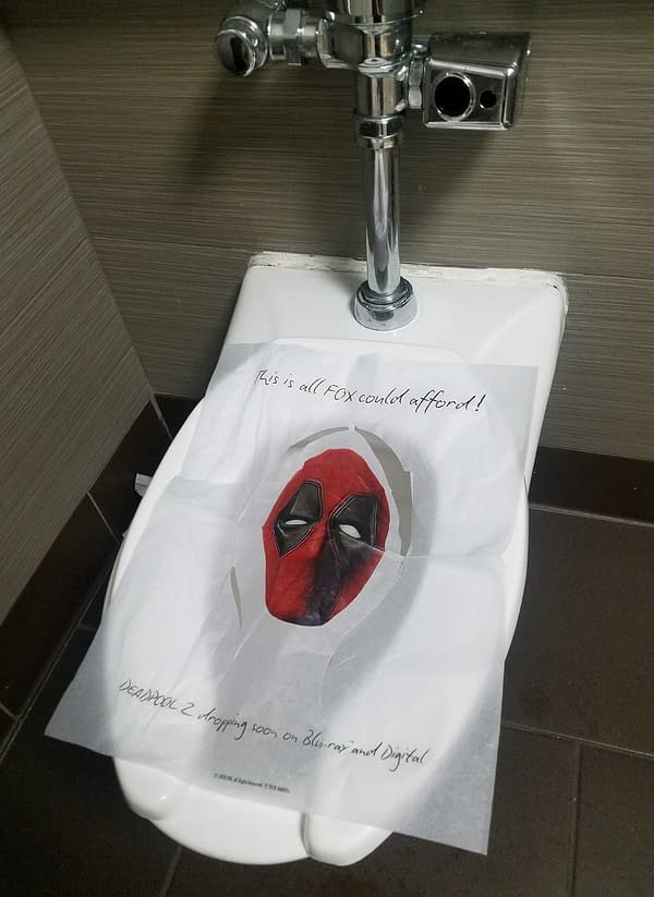 Deadpool Toilet Seat Covers from SDCC Hotels Are Being Sold for $40 Each on eBay