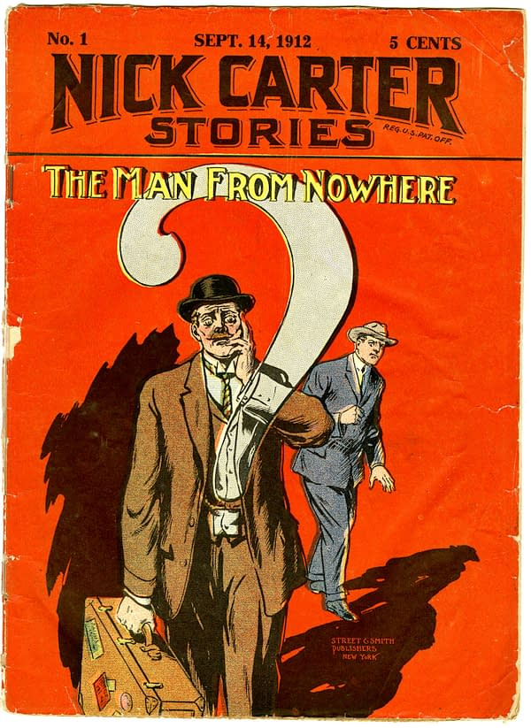 Nick Carter Stories #1 September 14, 1912 from Street & Smith is the first issue of a 160 issue periodical series (1912-1915).