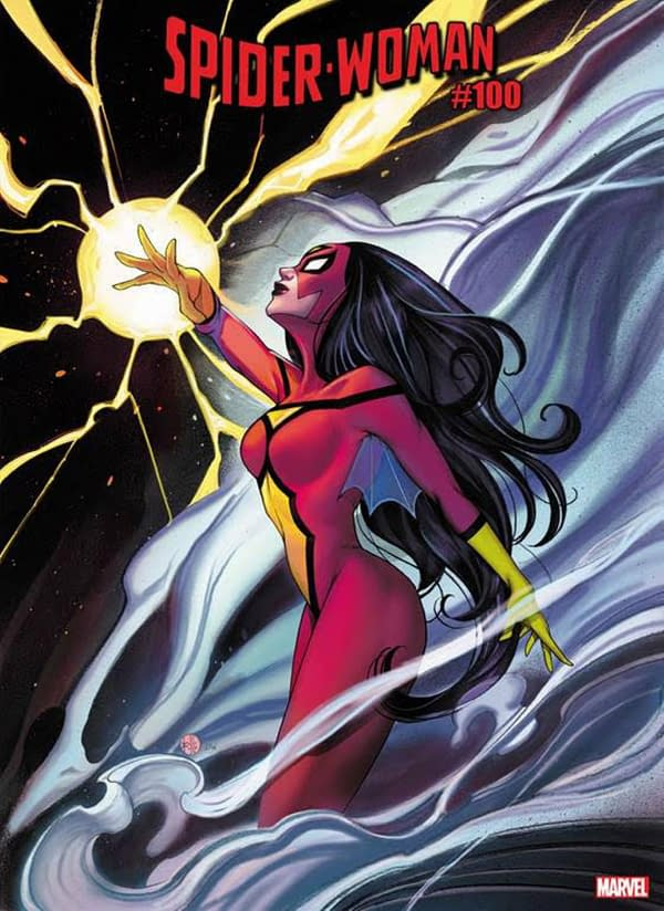 Peach Momoko Has A New Look for Spider-Woman #100 Cover