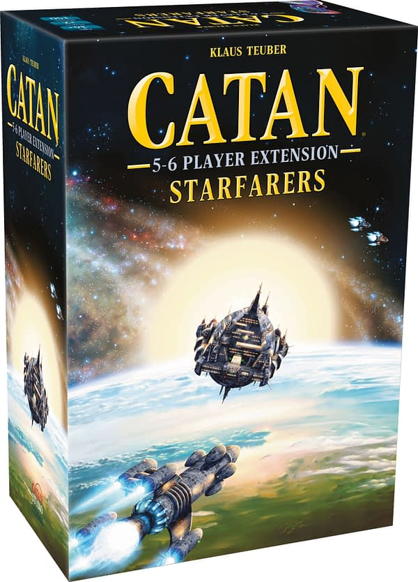 The box for CATAN - Starfarers 5-6 Player Extension, courtesy of Catan Studio.