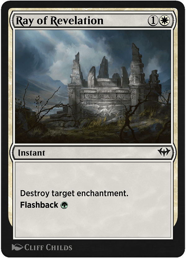 Ray of Revelation, a new card for Magic: The Gathering's Historic format on Magic Arena, courtesy of Historic Anthology V.