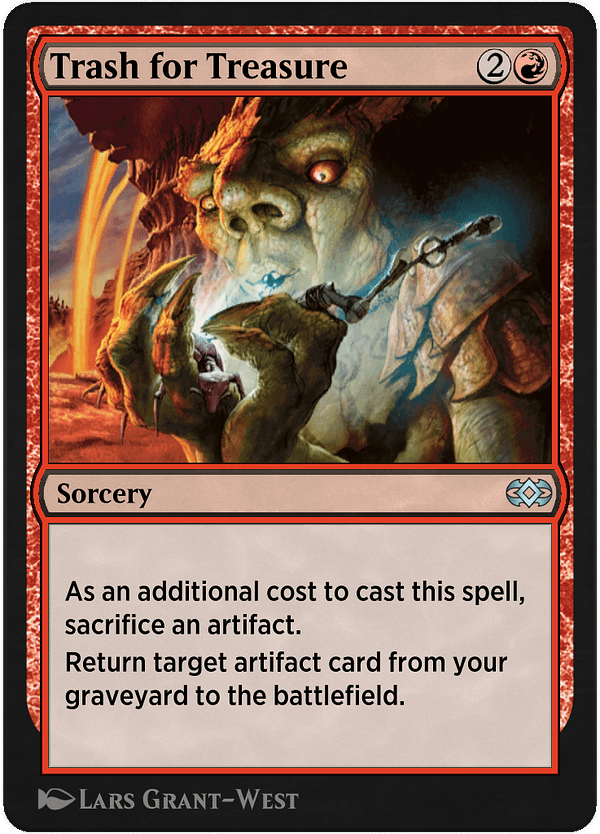 Trash for Treasure, a new card for Magic: The Gathering's Historic format on Magic Arena, courtesy of Historic Anthology V.