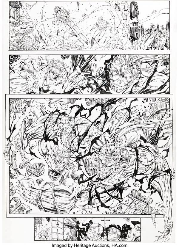 Jim Lee X-Men, WildCATS and Punisher Original Artwork at Auction