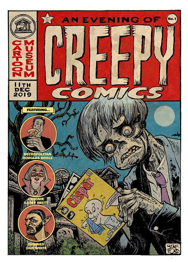 Mark Stafford Draws an Evening Of Creepy Comics for the London Cartoon Museum