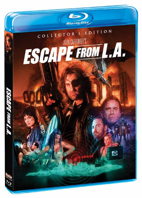 The Cover for the Collector's Edition of Escape from L.A. on Blu-Ray.