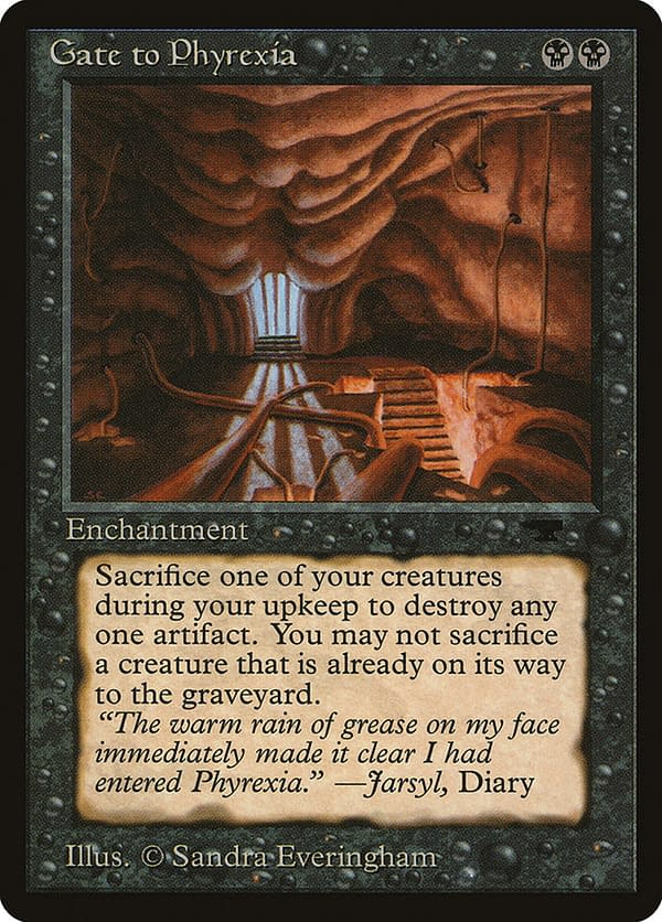Gate to Phyrexia, a card from the Antiquities expansion set for Magic: The Gathering.