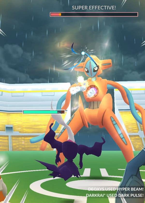 Shiny Deoxys is in Raids for Enigma Week. Credit: Niantic