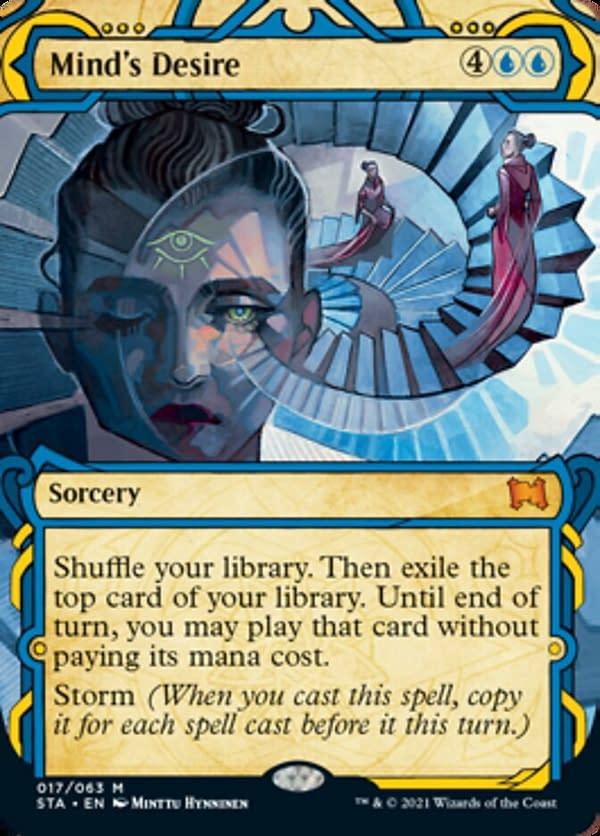 Mind's Desire, a card from Strixhaven's Mystical Archives.