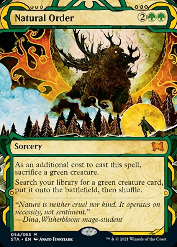 Natural Order, a card from Strixhaven's Mystical Archives.