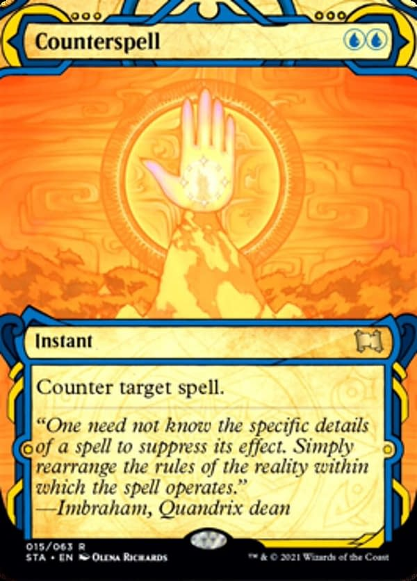 Counterspell, a card from Strixhaven's Mystical Archives.