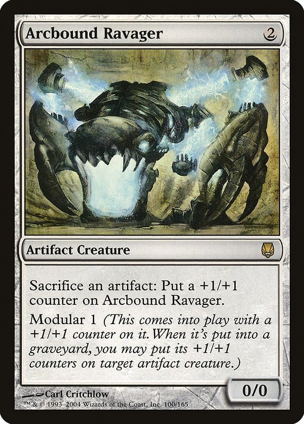 Arcbound Ravager, a card from Magic: The Gathering's Darksteel expansion.
