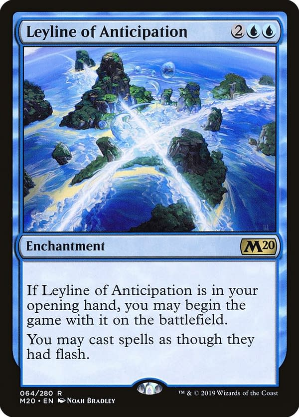 Leyline of Anticipation, a Magic: The Gathering card from Core 2020 and a key card in this Commander deck.