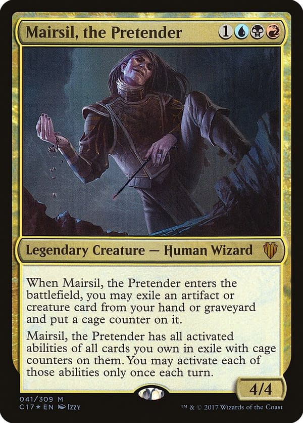 Mairsil, the Pretender, a card from Magic: The Gathering's Commander 2017 preconstructed decks.