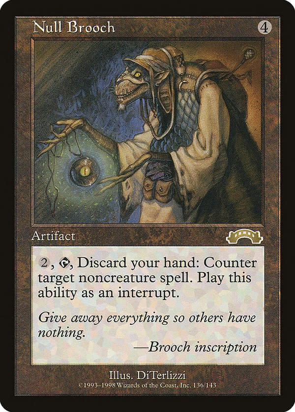 Null Brooch, an artifact from Magic: The Gathering's Exodus expansion set.