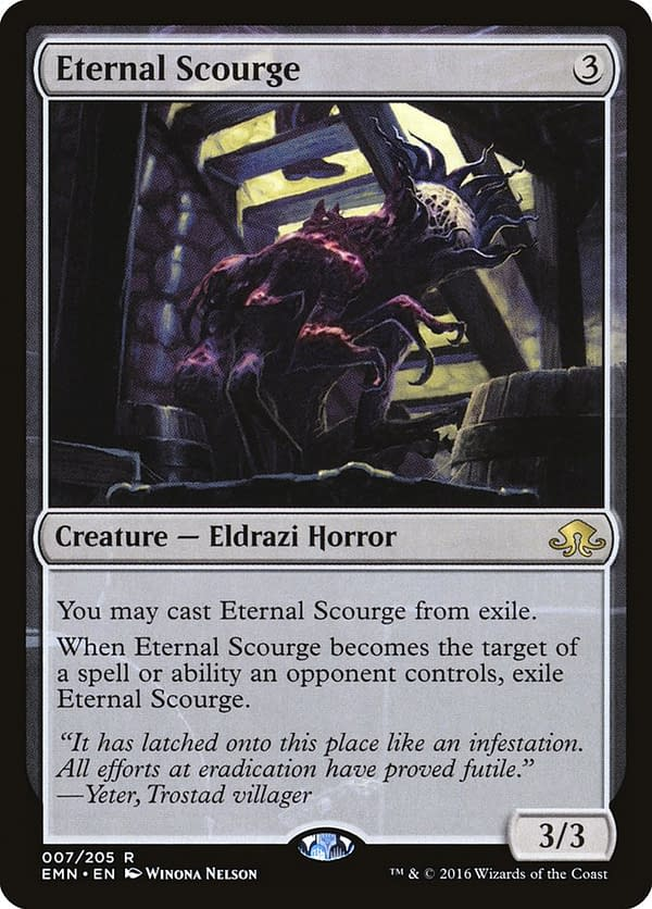 Eternal Scourge, a card from Eldritch Moon, an expansion set from Magic: The Gathering.