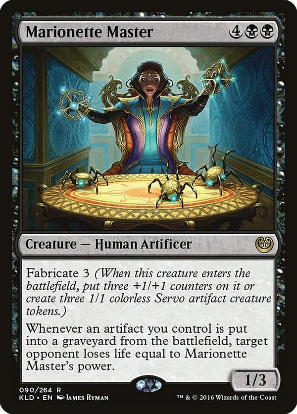 Marionette Master, a card from the Kaladesh expansion set for Magic: The Gathering.