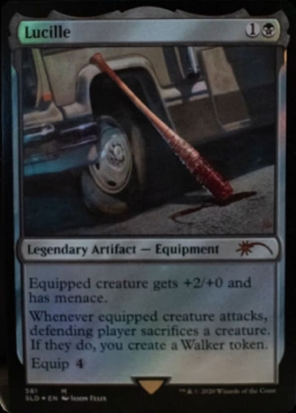 A look at Lucille in Magic: The Gathering... WHAT? Courtesy of Wizards of the Coast.