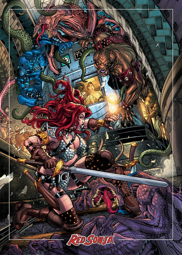 Red Sonja Getting Limited Edition Trading Card Line