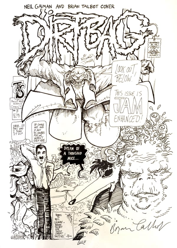 Neil Gaiman Original Cover Artwork For #ComicWritersChallenge
