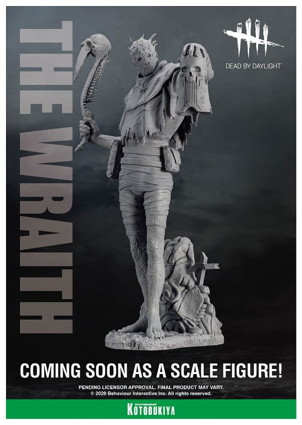 Dead by Daylight the Wraith Statue Is Teased by Kotobukiya