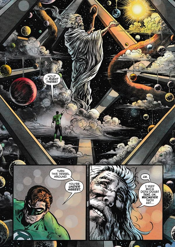 Hey, FoxNews, Green Lantern Just Arrested God, Then Punched Him in The Mouth