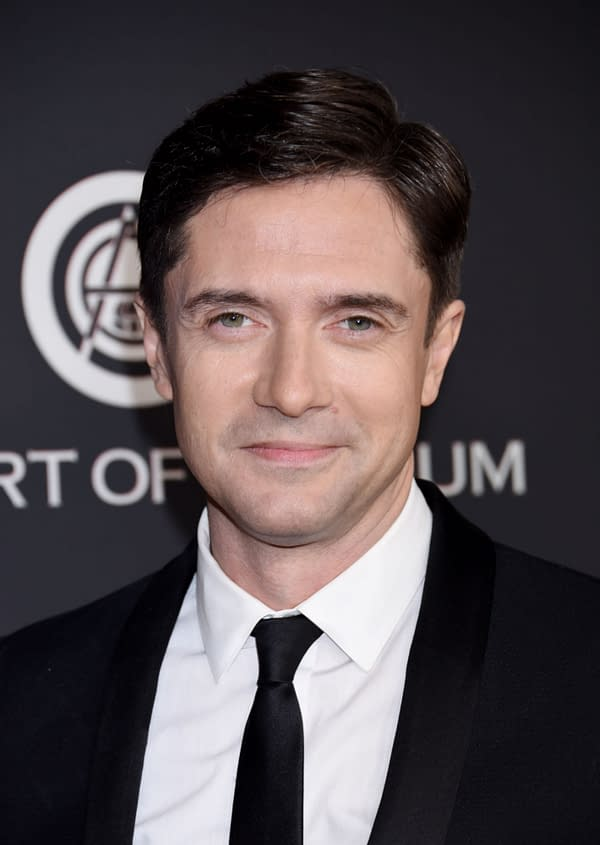 "HOLLYWOOD, CA/USA - JAN 4 2020: Topher Grace arrives to The Art of Elysium 13th Annual Black Tie Artistic Experience ""HEAVEN"" on January 4, 2020 in Hollywood, CA (Ga Fullner / Shutterstock.com)"