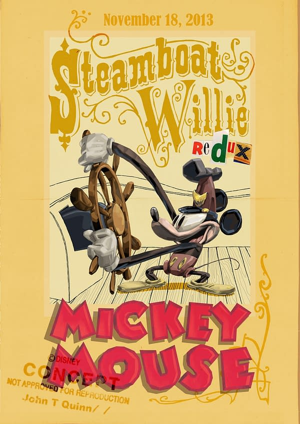 Steamboat Willie Redux Poster